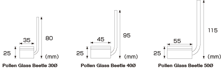 ADA Pollen Glass Beetle Series 30mm for AIR