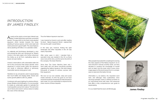 The Art of Aquascaping by James Findley & The Green Machine Introduction