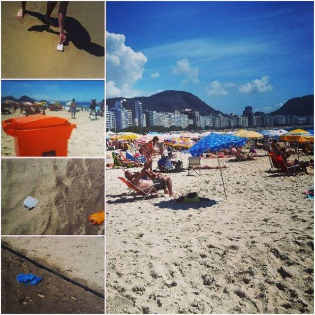 waste collection beach green traveler