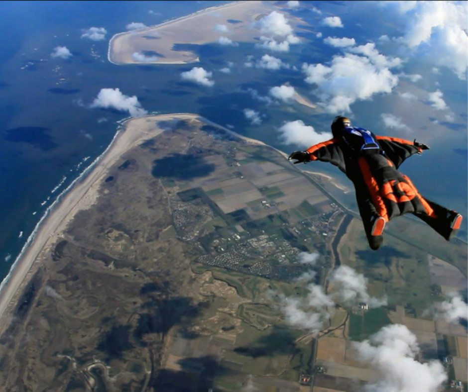 parachute texel wadden sea netherlands skydiving unique things to do amsterdam