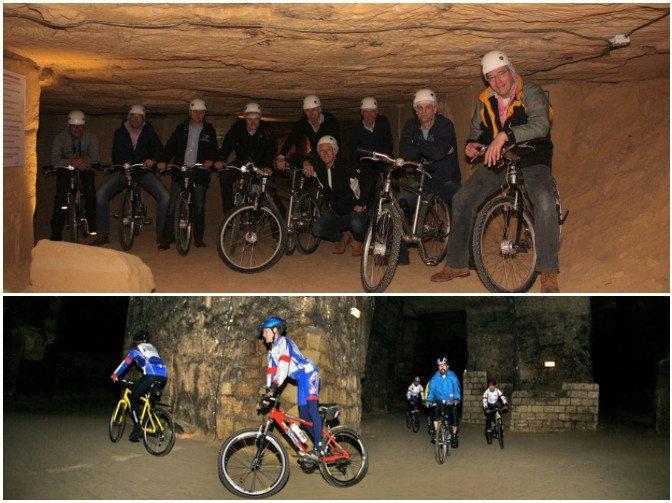 vélo dans une cave valkenburg activites amsterdam choses à faire à amsterdam