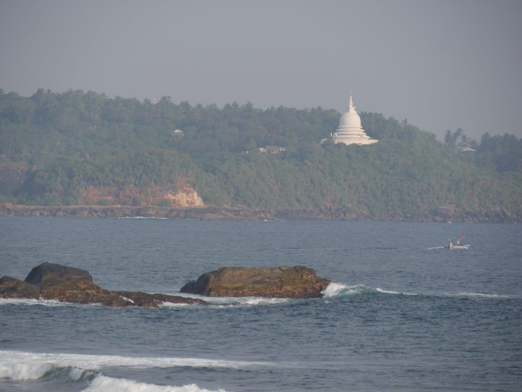 View from old Galle town sri lanka by bicycle