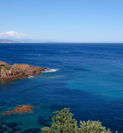 massif de l'esterel Cap roux nice cote azur tourisme frejus