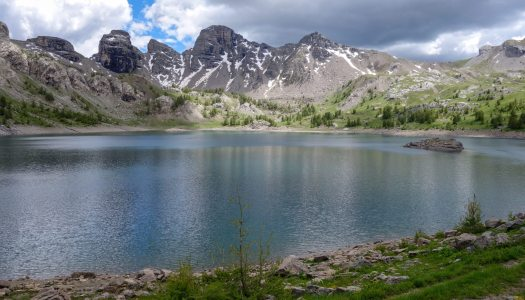 Allos Lake, the largest natural altitude lake in Europe