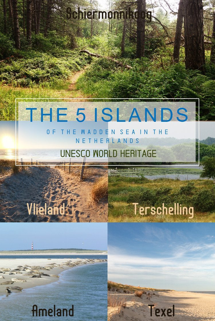 5 islands of the wadden sea in the netherlands