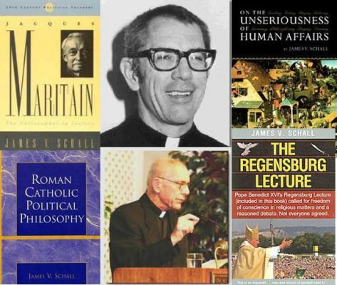 "James Schall (1928-) Prolific Jesuit political philosopher. ""No one will seek the highest [things] if he believes that there is no truth, that nothing is his fault, and that government will guarantee his wants."""