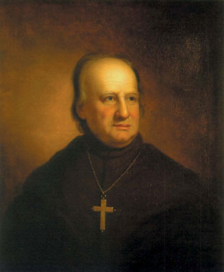 Archbishop John Carroll (1735-1815), Baltimore, friend of George Washington, founder of Georgetown, he set the stage for America to be open to Catholicism and vice versa.