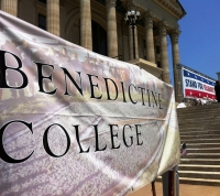 Benedictine College joins in the Rally for Religious Freedom in Topeka.