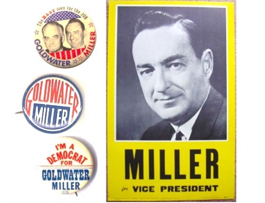 """William E. Miller (1914-1983) U.S. Congressman and first Catholic on a GOP national ticket (1964), and party chairman. This World War II hero was """"one of the best political minds and most effective orators of his day."""""""