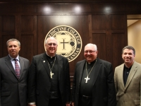 Curtis Martin, Archbishop Naumann, Bishop Morlino and Jonathan Reyes.