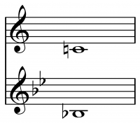 Concert pitch is the same note, even when some instruments play a C and others a B flat.