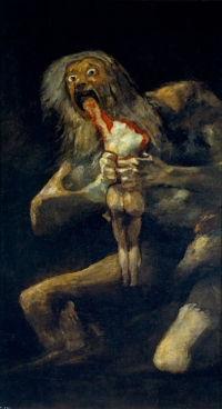 Francisco de Goya, Saturn devouring his son, 1819-1823.