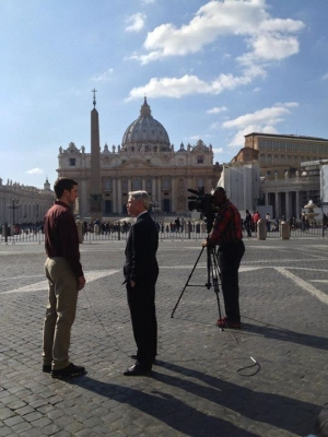 March 12, Conclave: Benedictine College students in Rome for our semester abroad program were interviewed by ABC, EWTN and others.