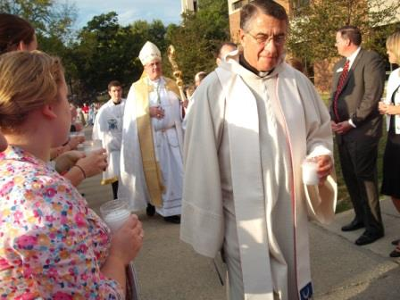 Abbot Barnabas was Abbot at St. Benedict's Abbey in 2009. (Photo by Brother Benedict)