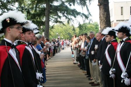 Benedictine College's Knights of Columbus honor guard. (Photo by Megan Bickford)