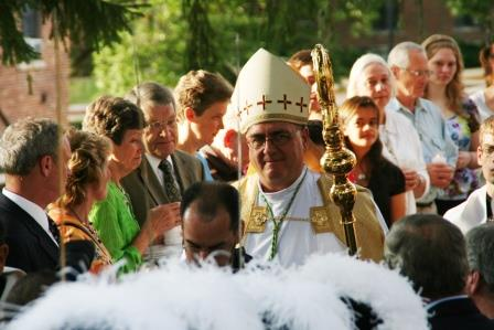 Archbishop Joseph Naumann in procession. (Photo by Megan Bickford)