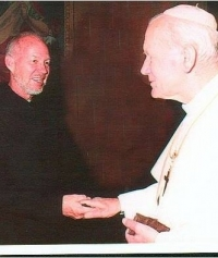 Fr. Bruce Swift (Dec. 17, 1932-Dec. 25, 2014) with St. John Paul II.