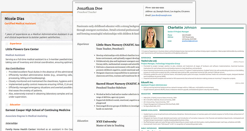 Recruiters and hiring managers spend an average of 6 seconds reviewing a candidate's resume before they make an initial assessment. Free Resume Builder Websites And Applications The Grid System