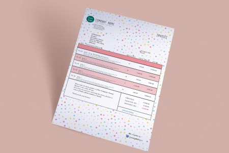 Free Invoice Templates by InvoiceBerry   The Grid System CreativeDots gimp invoice template