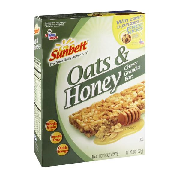 Sunbelt Chewy Granola Bars Oats Honey 8 ct