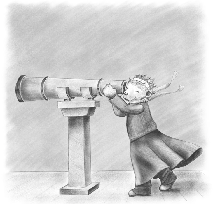 illustrating haven: ember and the telescope