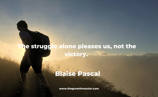 quote about the struggle