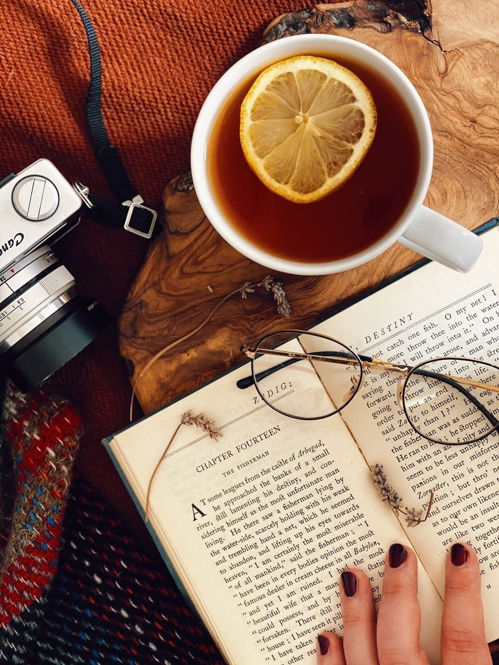 Easy Mental Health cure: a cup of tea, and a good book.