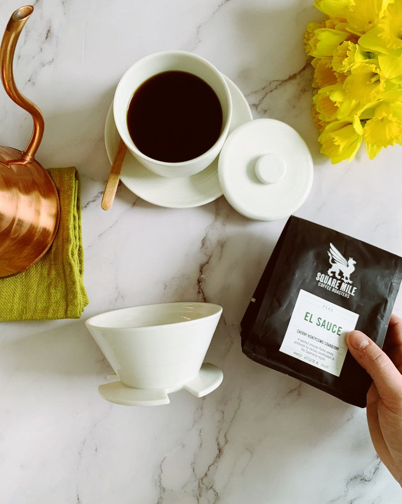 April Brewer & a bag of Square Mile Coffee