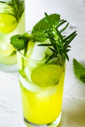 Pineapple Lime Mojito in a long glass.