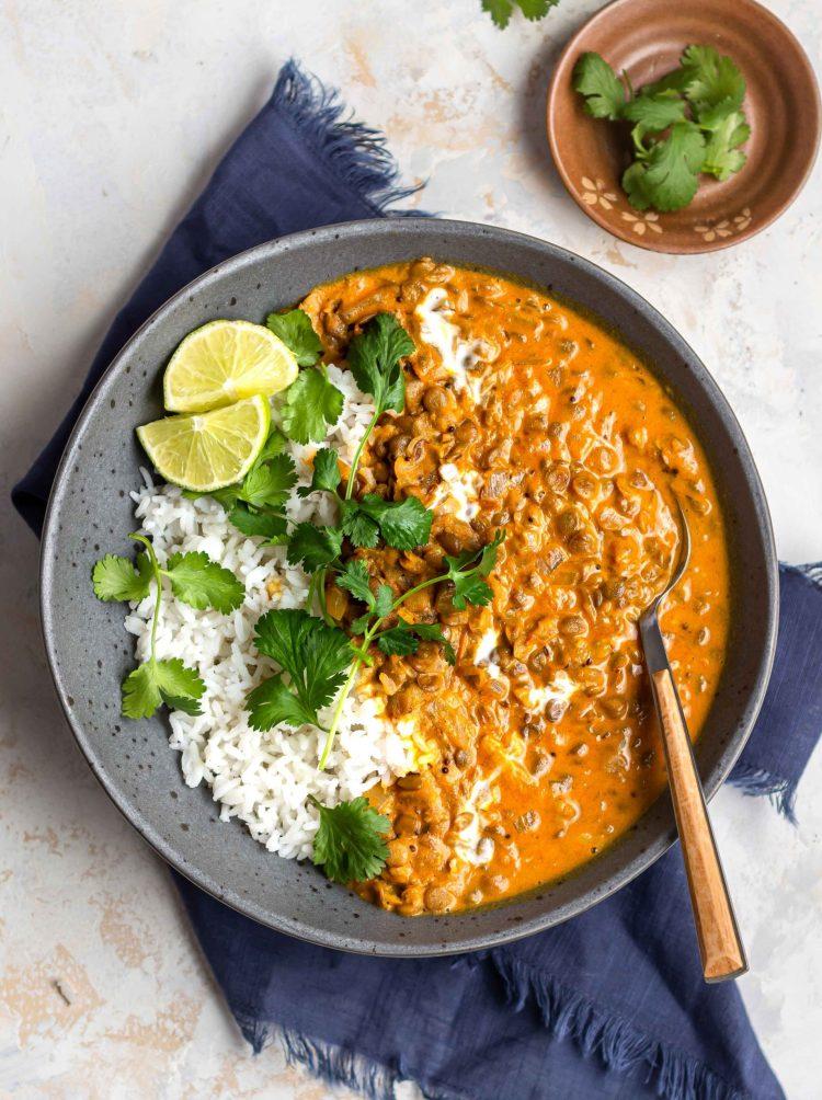 coconut lentil curry