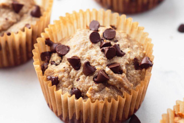 vegan and gluten-free blender banana muffins