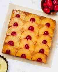 vegan upside down pineapple cake