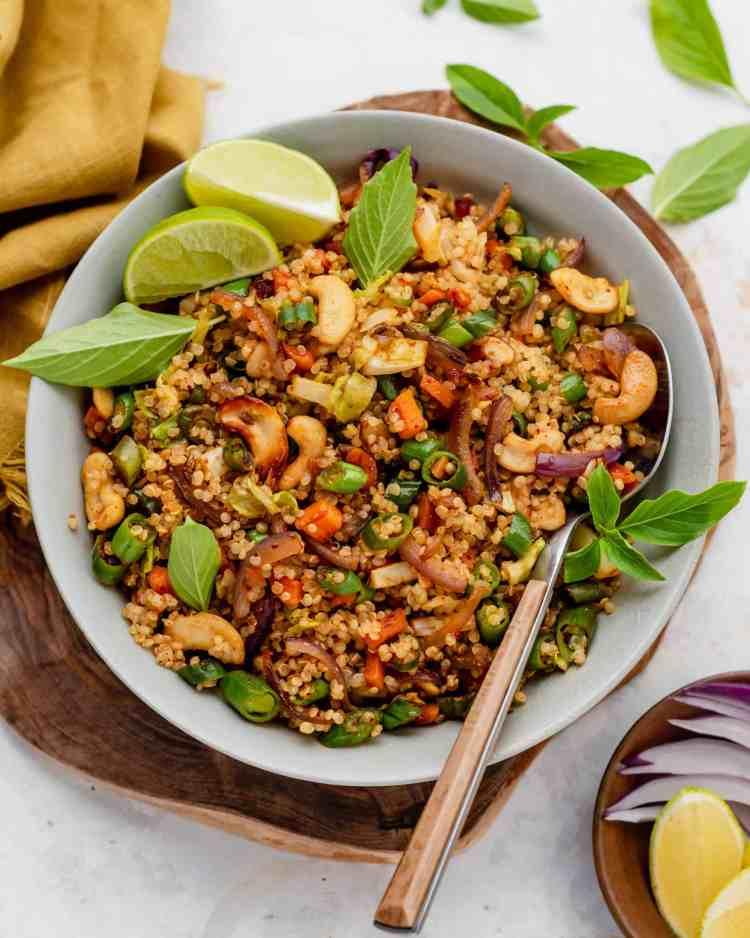 vegan quinoa fried rice