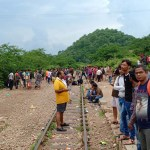 People waiting for train at Goram Ghat Railway Station