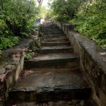 Stairs in the starting route towards Goraknath Temple