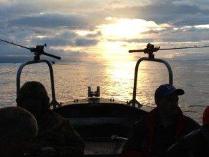 Sunset fishing on Tillamook Bay