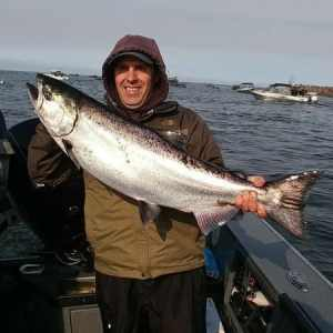 Greg Huber of Salem with a 23-pound Tillamook Chinook taken on a herring on September 16th