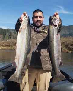 """Another Wilson River steelhead limit for a lucky angler caught on March 20th in Tillamook County."" Photo credit by Rob Gerlitz"