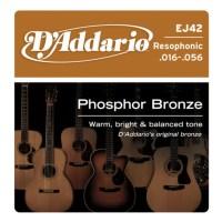Beginner's Kit for Dobro Guitar - D'Addario EJ42 Resophonic Guitar Strings, 16-56