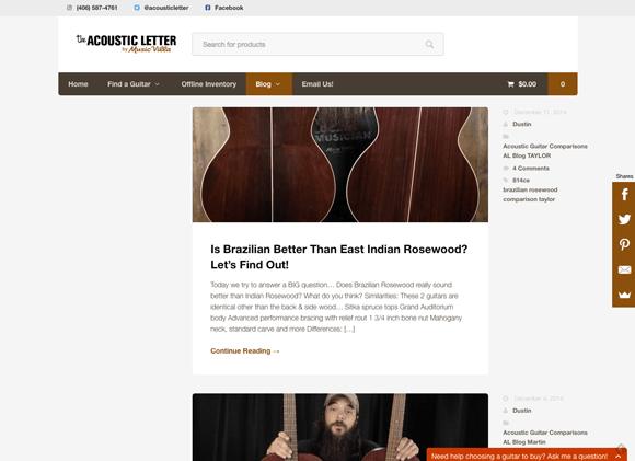 Acousticletter.com Guitar Blog