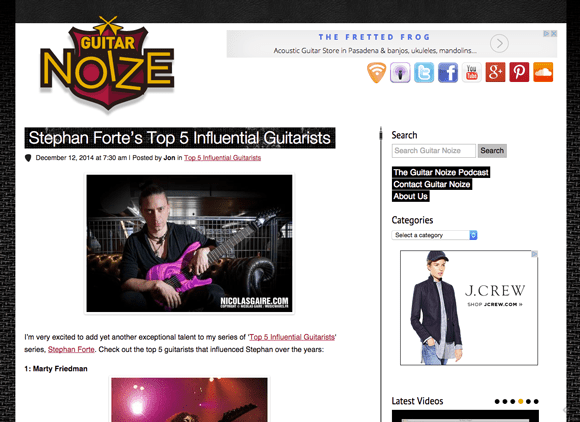 GuitarNoize.com Guitar Blog