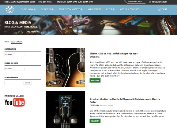 Music Villa Guitar blog