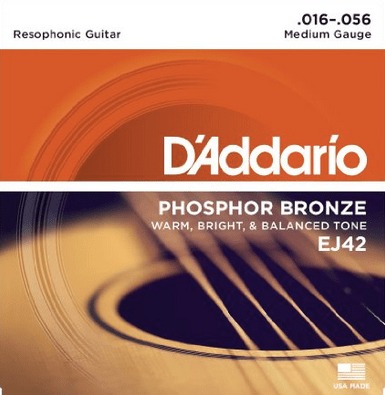 D'Addario Phosphor Bronze Resophonic Guitar Strings