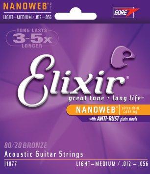 Elixir Medium Light Acoustic Guitar Strings