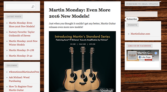 Martin Guitar Blog