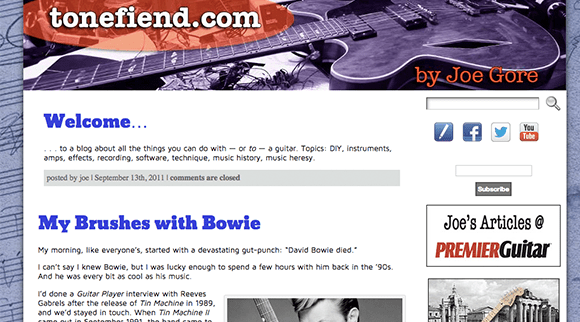ToneFiend Guitar Blog