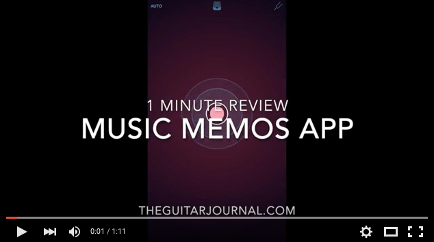 1 Minute Video Review - Music Memos App