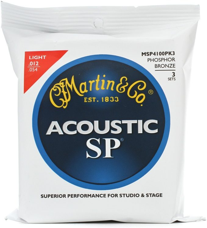 Product Image of Martin SP Acoustic Guitar Strings - Light (MSP 4100) Phosphor Bronze 92/8