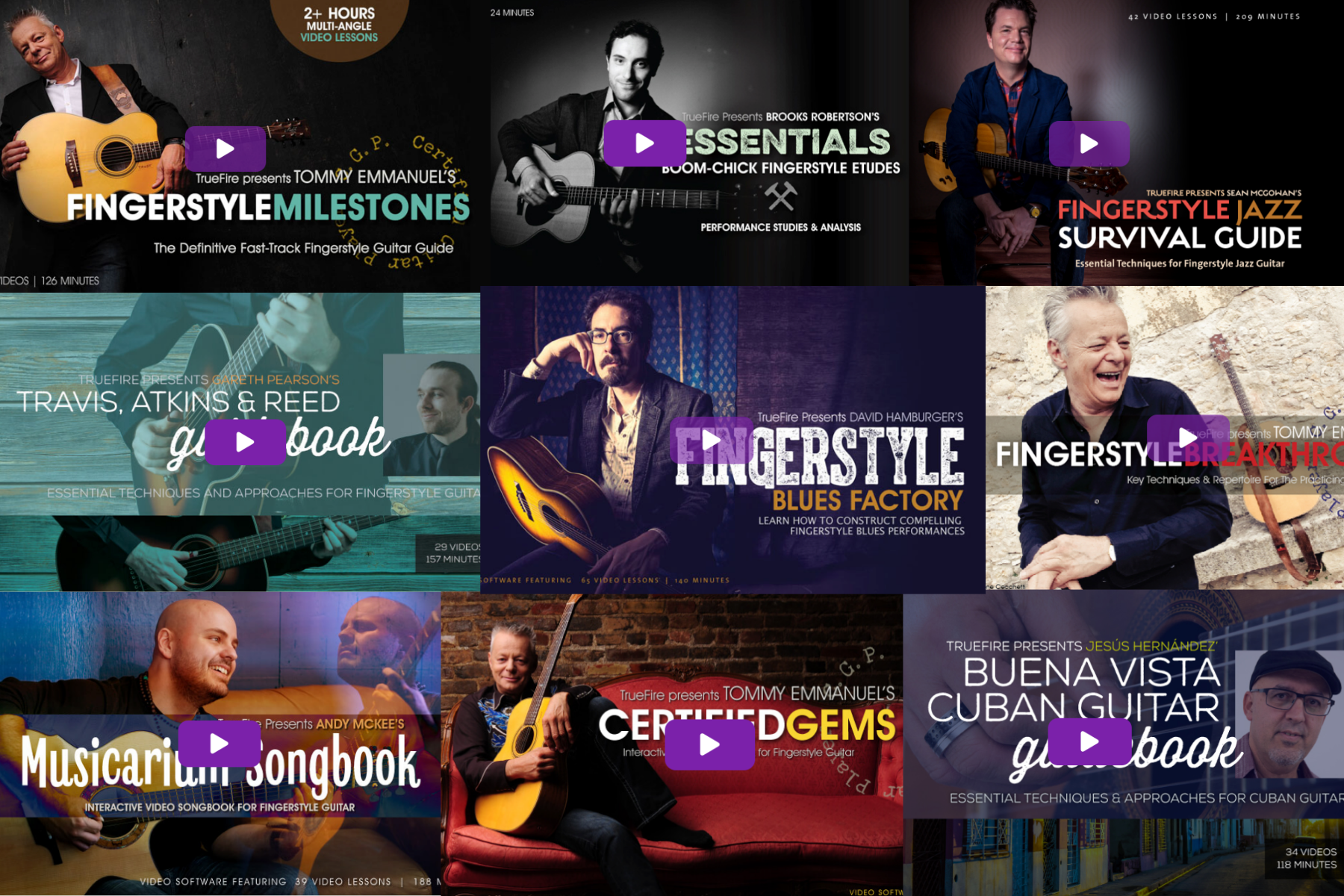 Fingerstyle Courses on Truefire