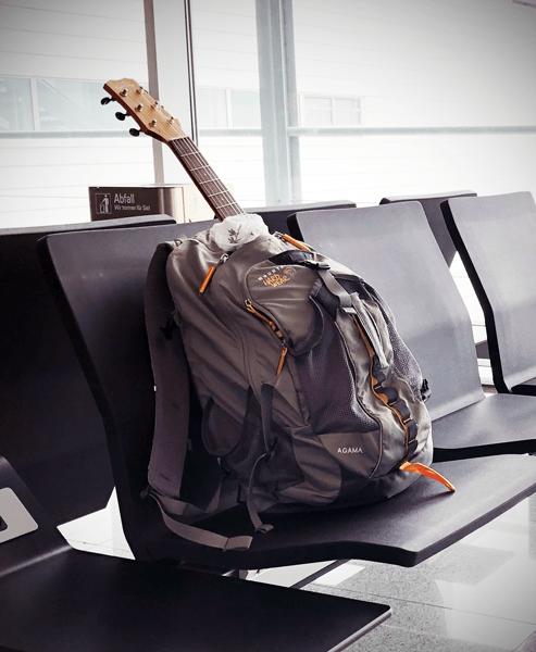 Cordoba Mini zipped up in a backpack